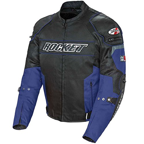Leather Mesh Motorcycle Jacket - 5