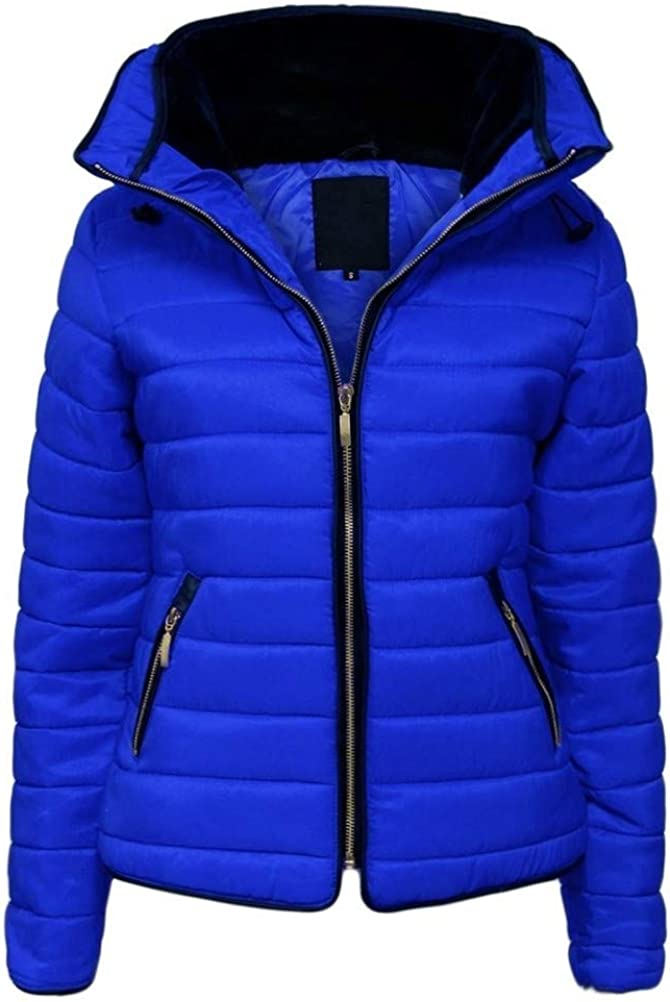 mh.kh6j5lk Winter Womens Fashion Warm Thick Coats Ladies Puffer Cotton Padded Coat Female Quilted Outwear