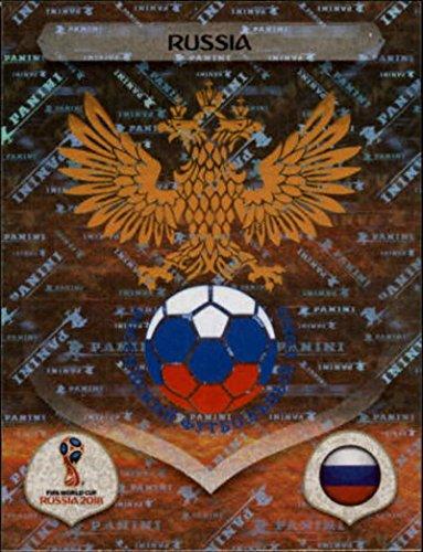 Russia Card (2018 Panini World Cup Stickers Russia #32 Team Logo Russia Soccer Sticker)