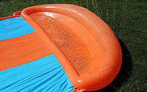 Bestway Two (2) H2O Go Triple Slider Kids Outdoor 3-Person Water Slides | 52200E by Bestway (Image #3)