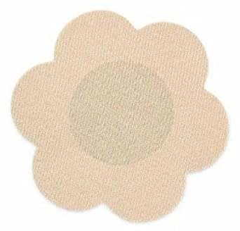 Breast Petals (Nipple Covers) - 3 Pair Nude - For a Smooth Look