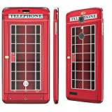 zte zmax british - ZTE [ZMAX PRO] Skin [NakedShield] Scratch Guard Vinyl Skin Decal [Full Body Edge] [Matching WallPaper] - [British Phone Booth] for ZTE [ZMAX PRO] [Carry Z981]