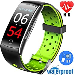 Ereon Sport Fitness Tracker HR - IP68 Waterproof Smart Watch with Heart Rate Monitor Oxygen Monitor Blood Pressure Sleep Monitor Outdoor Swim Run Pedometer Smart Wristband for Men Women