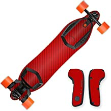 MightySkins Protective Vinyl Skin Decal for Boosted Board wrap cover sticker skins Red Carbon Fiber