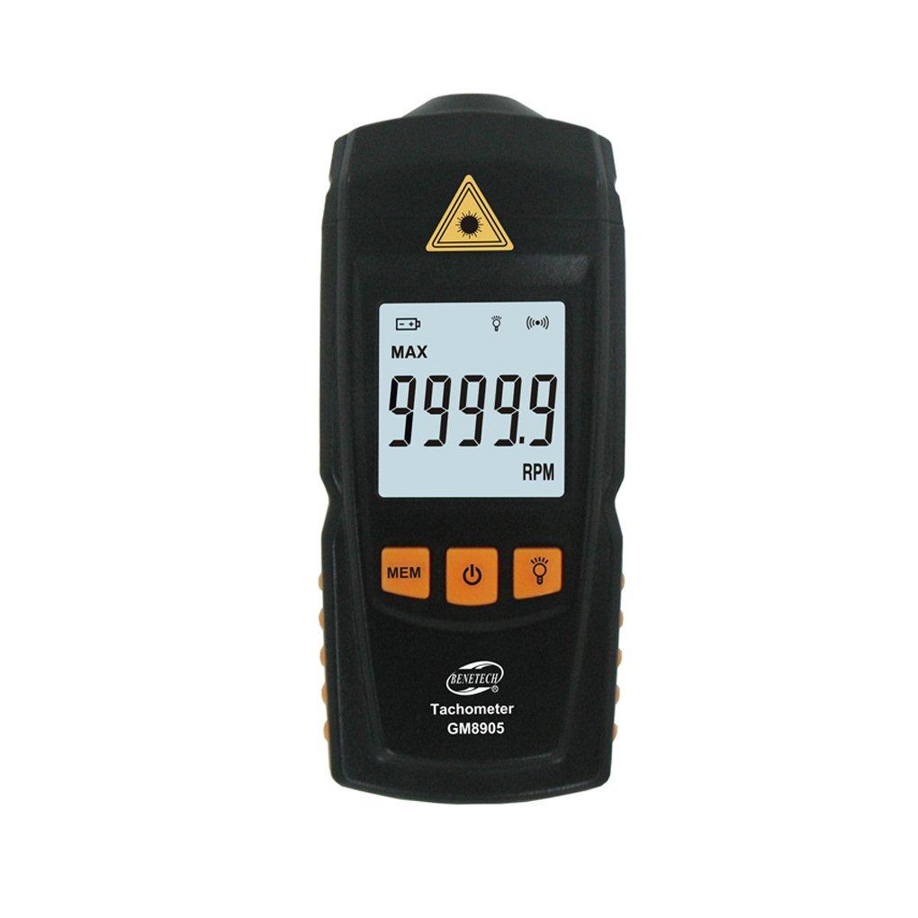 Boger GM8905 Digital LCD Tachometer Non-Contact RPM Tach Test Meter Motor Speed Gauge Tester