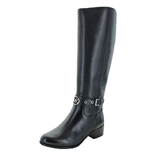 5f6237a7f27e MICHAEL Michael Kors Women s Heather Leather Knee-High Boots Black Size 11   Amazon.ca  Shoes   Handbags
