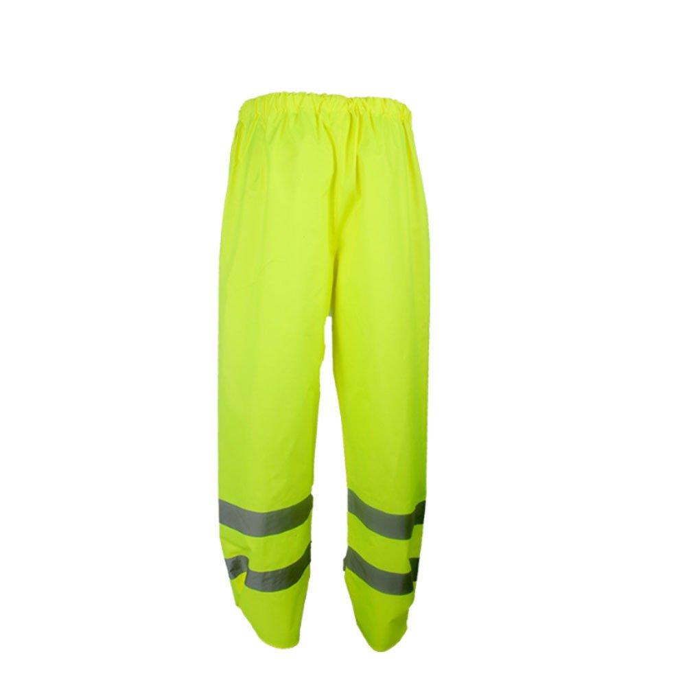 Meijunter R/éfl/échissant Circulation s/écurit/é Pluie Un Pantalon Imperm/éable V/êtements de Travail Fluorescent Pantalon
