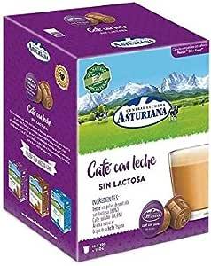 CENTRAL LECHERA ASTURIANA CAFÉ con Leche SIN LACTOSA, 16 Cápsulas COMPATIBLES Dolce Gusto: Amazon.es: Salud y cuidado personal