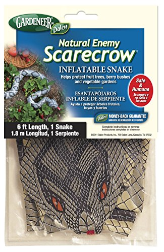 Gardeneer By Dalen Natural Enemy Scarecrow Inflatable Snake, Brown, 6 Ft. - -