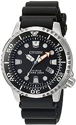Citizen Men's 'Promaster Diver' Quartz Stainless Steel and Polyurethane Diving Watch, Color:Black (Model: BN0150-28E)