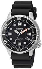 Proof that a dive watch can be fun and functional with the Citizen ISO-Compliant promaster professional Diver. With eco-drive technology, it is powered by Light and never Needs a Battery, so you'll never need to open your case back making sur...