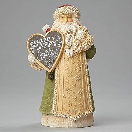 Enesco Heart of Christmas Mini Santa Happy Christmas Figurine 5.12 In
