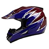 quad helmets for youth - PGR X25 Youth 360 Motocross MX BMX Dirt Bike Dune Buggy Enduro ATV Quad Off Road (Youth Medium, Purple Red)