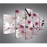 Blossom V2 MF 5 Quadri moderni su tela - pronti da appendere - montata su pannelli in legno - Fotografia formato XXL - Stampa su tela - Quadro x poltrone salotto cucina bagno mobili ufficio casa