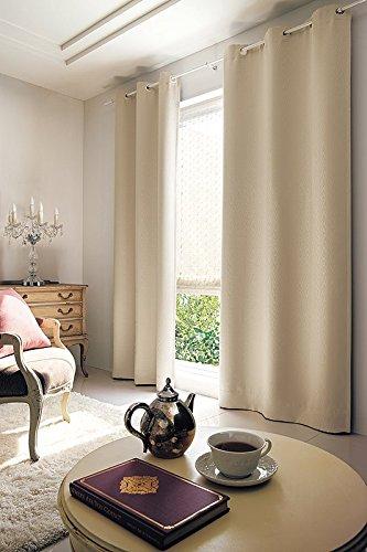 東リ モアレ柄を繊細な織りで表現 フラットカーテン1.3倍ヒダ KSA60348 幅:300cm ×丈:150cm (2枚組)オーダーカーテン   B0784X2DLZ