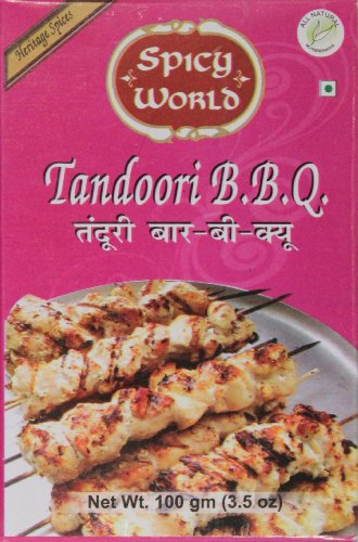 Spicy World Tandoori Chicken BBQ Masala, 3.5-Ounce Boxes (Pack of 10)