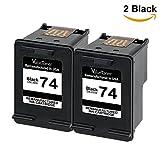 Contents: HP 74 CZ069FN CB335WN (2 Black) 2 Pack Color: Black Page Yield: 200 pages per black cartridge Printer Compatibility: Deskjet D4260 D4263 D4268 D4280 D4360 D4363 D4368 Officejet J5725 J5730 J5735 J5738 J5740 J5750 J5780 J5783 J5785 J...