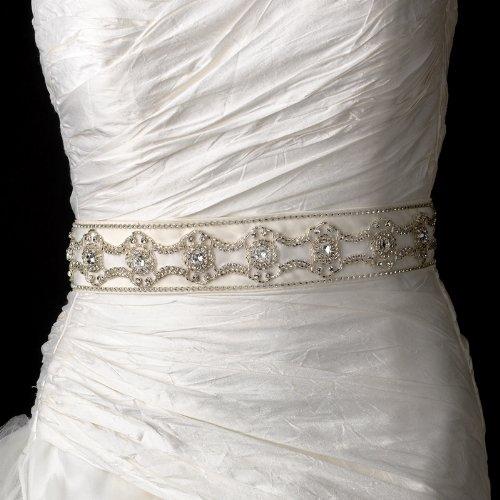 Pearls, Rhinestones & Beaded Wedding Sash Bridal Belt by Elegance by Carbonneau