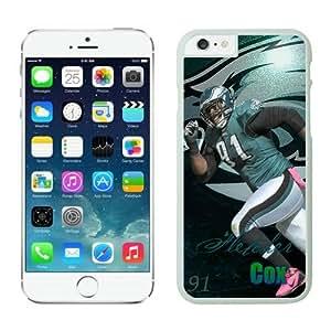 Philadelphia Eagles Fletcher Cox Case For iPhone 6 Plus White 5.5 inches