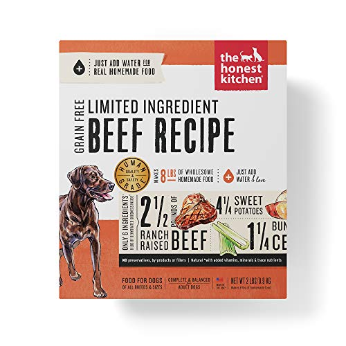 Honest Kitchen Limited Ingredient Beef Dog Food Recipe  2 lb box - Hope (The Nutritional Information On A Cereal Box)