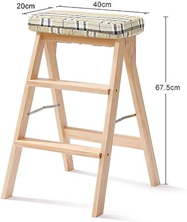 SGMYMX Escalera Banco de 2 Pasos - Madera - diseño Plegable fácil de Guardar - Adecuado para el hogar/Cocina/Garaje Escalera (Color : I): Amazon.es: Hogar
