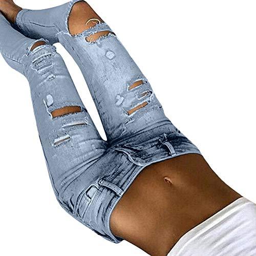 Leggings Da Yoga Pantaloni Vita Elastico Nuovo Azzurro Ghette Matita Donne I Denim Magro Alto Donna Pantaloni Styledresser Jeans qE1xd57wq