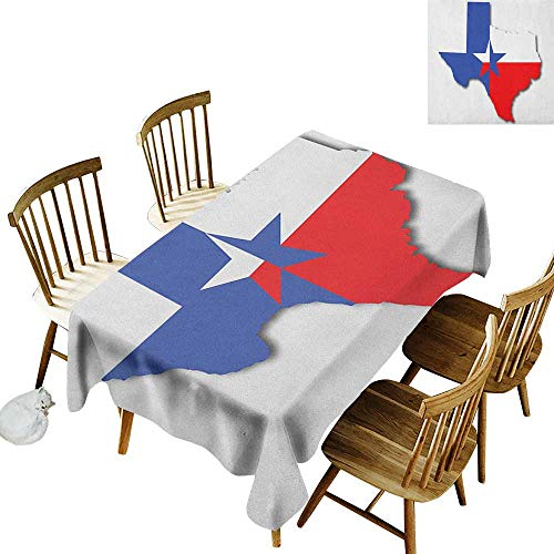 kangkaishi Rectangular tablecloths in a Variety of Colors and Sizes Can be Used for Parties Outline of The Texas Map American Southwest Austin Houston City W60 x L126 Inch Vermilion -