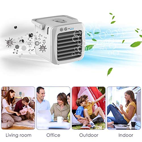 Todens USB Mini Cooling Fan Air Conditioning Fan Refrigerator Water Cooling Fan Desktop Cooler