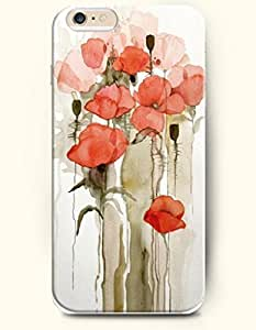 SevenArc Hard Phone Case for Apple iPhone 6 Plus ( iPhone 6 + )( 5.5 inches) - Small Red Flowers - Oil Painting