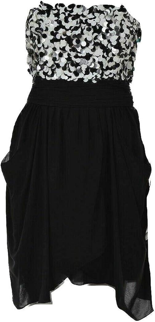 Olivia Sequin Sheath Strapless Dress