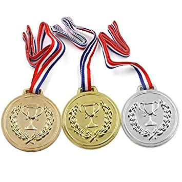 gold silver bronze medals olympics sports day prizes amazon co