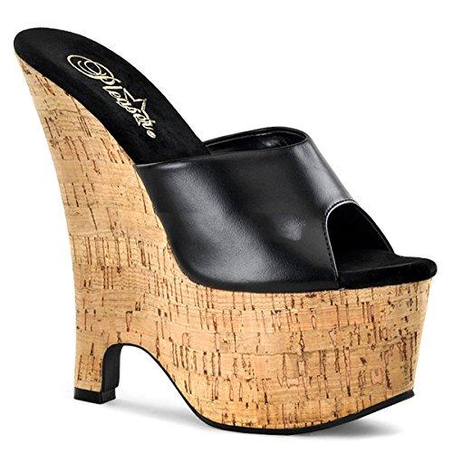Pleaser - Sandalias de vestir de piel para mujer Kork