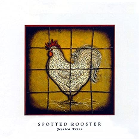 Buyartforless Spotted Rooster by Jessica Fries 5 X 7 Poster JF021Z
