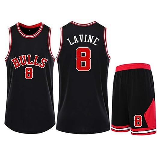 HSLIUQIUYI Zach LaVine NBA Chicago Bulls No. 8 Jersey De ...