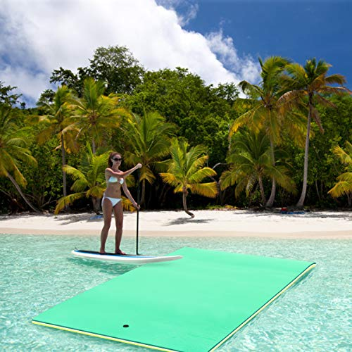 Goplus Floating Water Pad Mat for Lakes 3 Layer Floating Foam Fun Mat Aqua Pad with Tear-Stop Technology Designed for Water Recreation and Relaxing (11.5' x 6') by Goplus (Image #2)