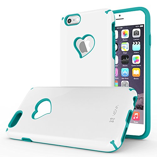 iPhone 6S Case, Vena [vLove] Heart-Shape Rear Window Dual Layer Hybrid Bumper Cover for Apple iPhone 6 2014 / 6S...