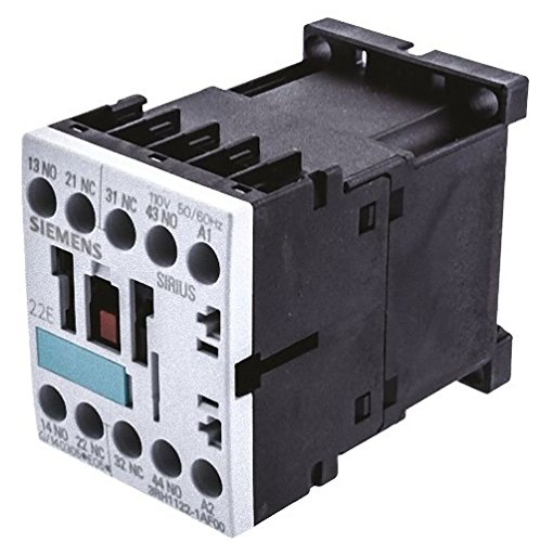 FURNAS ELECTRIC CO 3RH1122-1AF00 Relay, 2NO + 2NC, 110V AC, 50/60HZ, Successor 3RH2122-1AF00