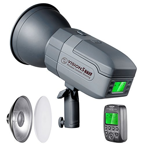 Neewer Vision5 400W for CANON TTL 2.4G HSS Outdoor Studio Flash Strobe with Reflector Diffuser,Wireless Trigger,Li-ion Battery (up to 500 Full Power Flashes),German Engineered,3.96 pounds,Bowens Mount
