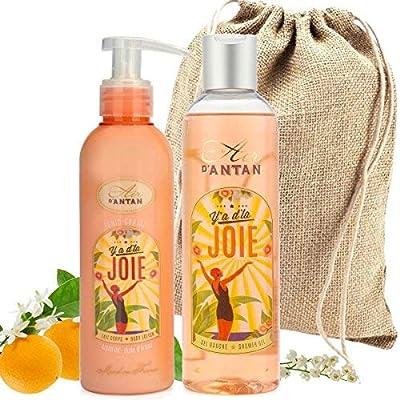 Französisches Beauty Set JOIE.Un Air D'Antan® 1 Duschgel 250ml + 1 Bodylotion 200ml Mit Arganöl In Einem Schönen…