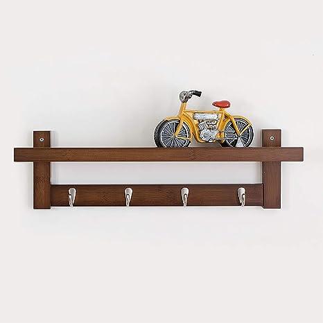 Amazon.com: KTOL - Perchero de bambú moderno con 4 ganchos ...