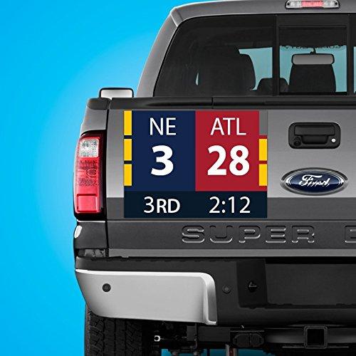 New England Patriots Super Bowl Comeback Scoreboard Car Truck Fridge Magnet (24x18 inches)