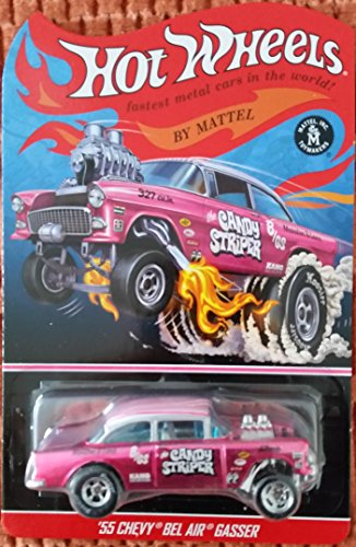 "Hot Wheels Collectors Special Edition '55 Chevy Bel Air Gasser Candy Striper ""Pink Stripes"" Variation"