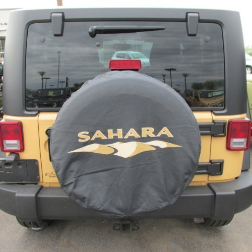(Genuine Jeep Accessories 82212321 Cloth Spare Tire Cover with Sahara)