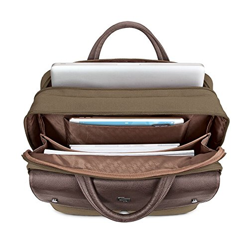 Solo Rucker 15.6 Inch Laptop Briefcase, Khaki by SOLO (Image #1)