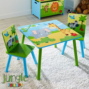 Brand New Jungle Friends Wooden Table & Chairs SeT CFB