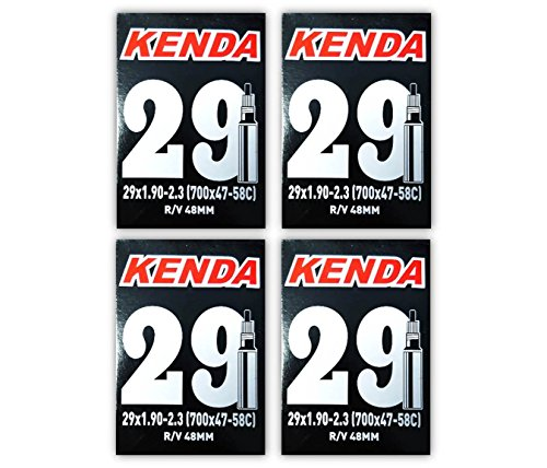 "Kenda 29er Bicycle Tube 29x1.9/2.3"" (48mm Presta R/V) - FOUR PACK w Decal/Sticker"