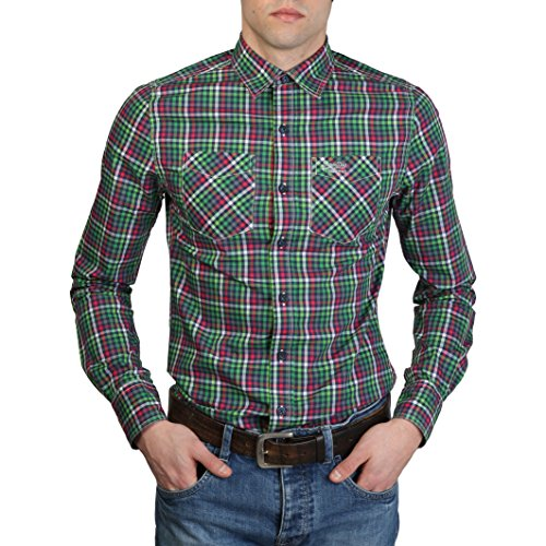 SUPERDRY - Chemises Superdry Vert Homme - MS4HE350F1_GREEN - XL