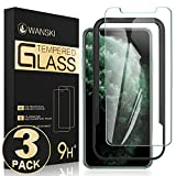 Wanski Tempered Glass Screen Protector Compatible for iPhone Xs Max, High Responsive, Bubble Free with Guide Frame/Easy Installation, [3 Packs][6.5 Inch]