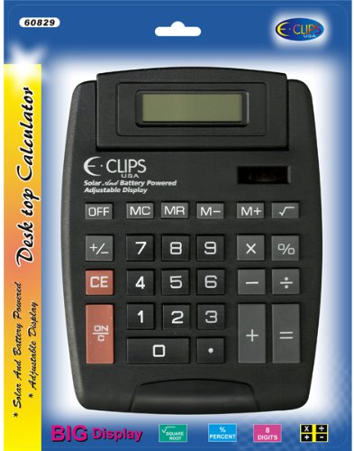 Calculator - Desk Top - Solar+Battery Case Pack 48 Computers, Electronics, Office Supplies, Computing by DDI