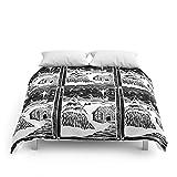 Society6 Snowy Christmas Comforters King: 104'' x 88''